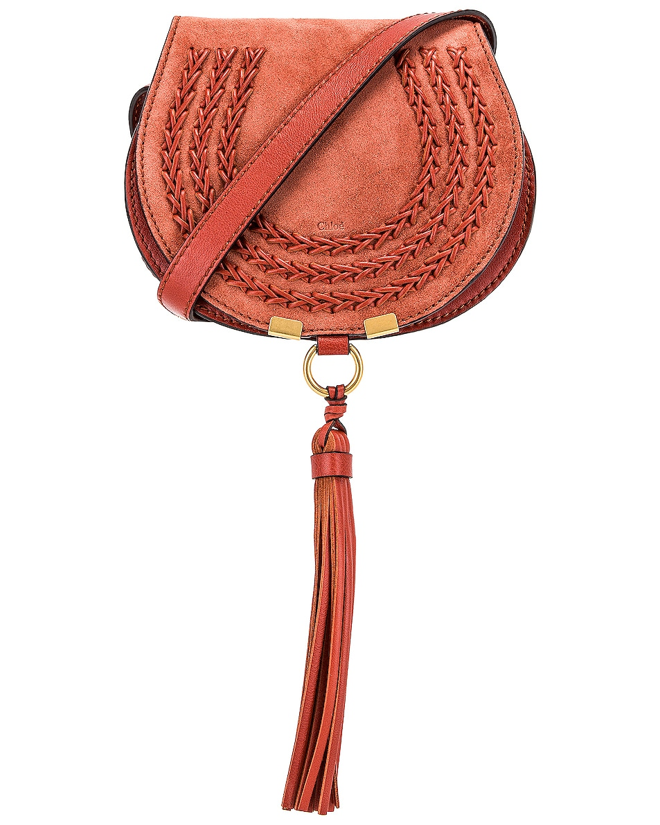 Image 1 of Chloe Small Braid Marcie Satchel in Terracotta Red