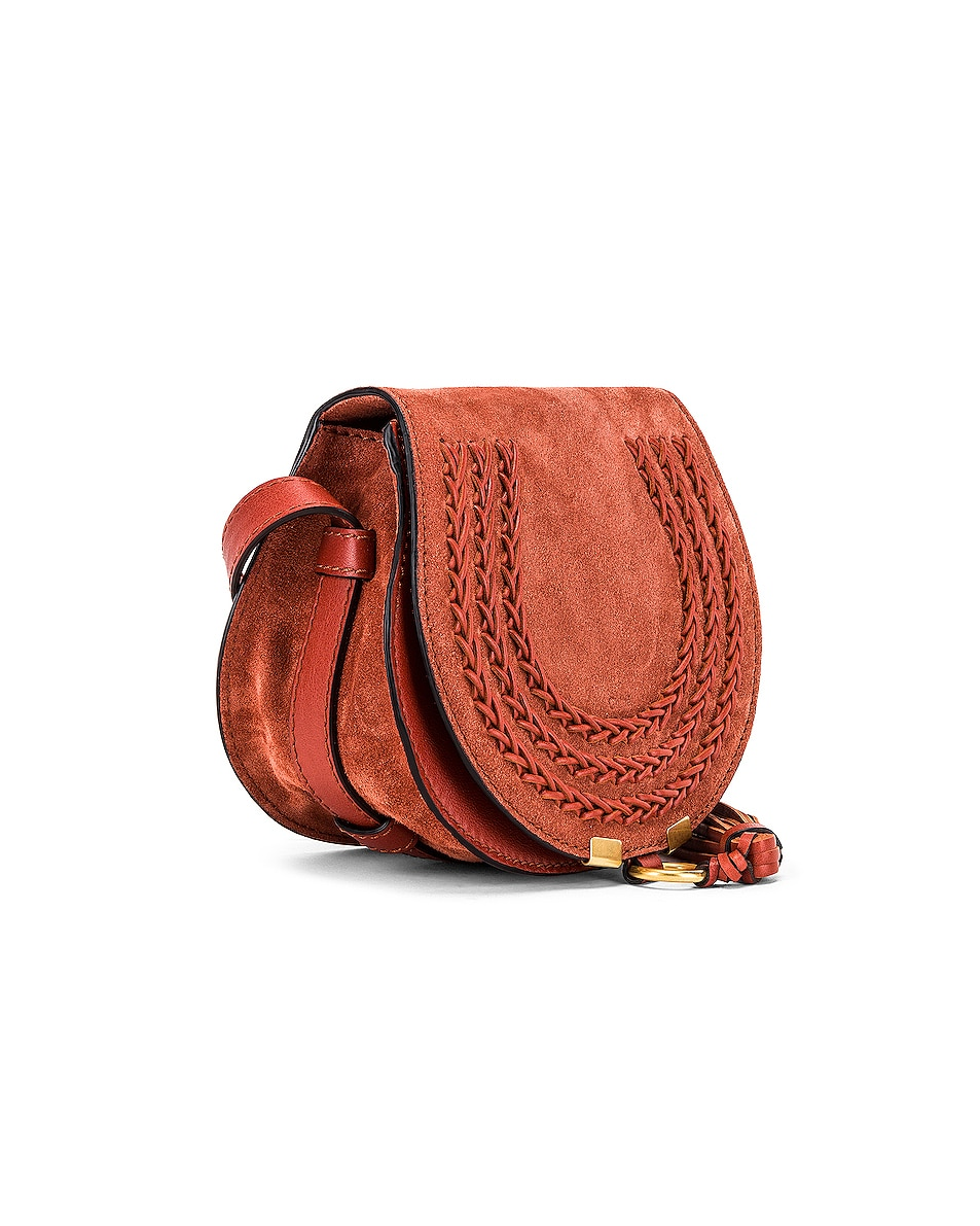 Image 4 of Chloe Small Braid Marcie Satchel in Terracotta Red