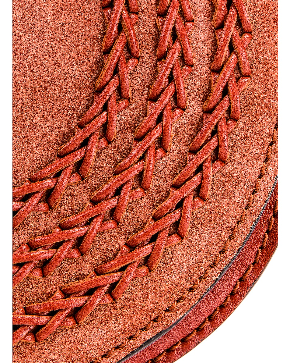 Image 8 of Chloe Small Braid Marcie Satchel in Terracotta Red