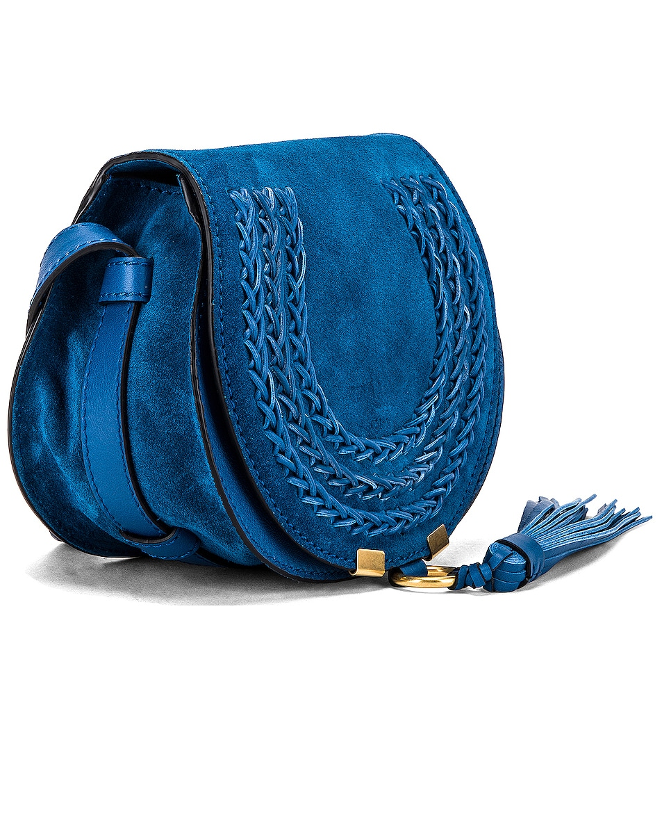 Image 4 of Chloe Small Leather Braid Marcie Satchel in Smoky Blue
