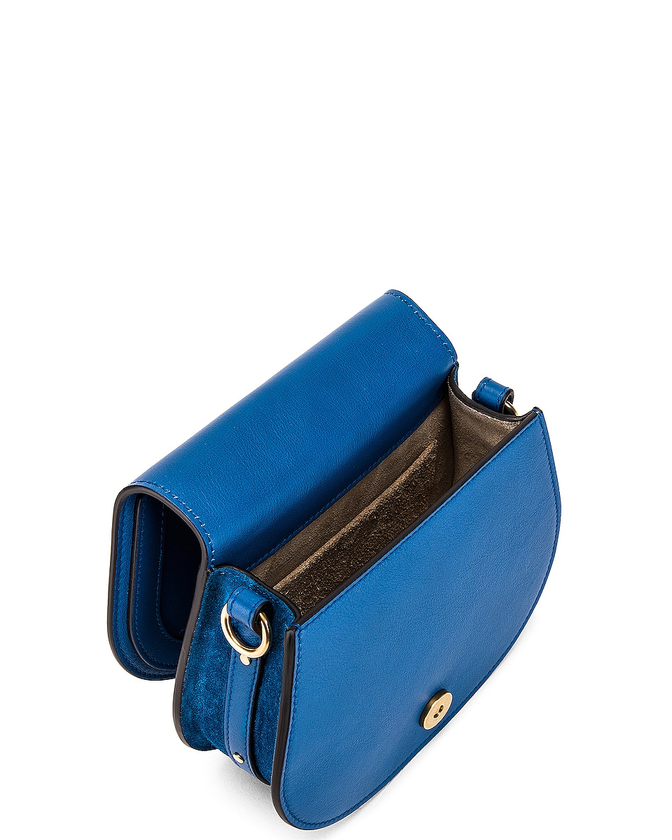 Image 5 of Chloe Small Nile Calfskin & Suede Bracelet Bag in Smoky Blue