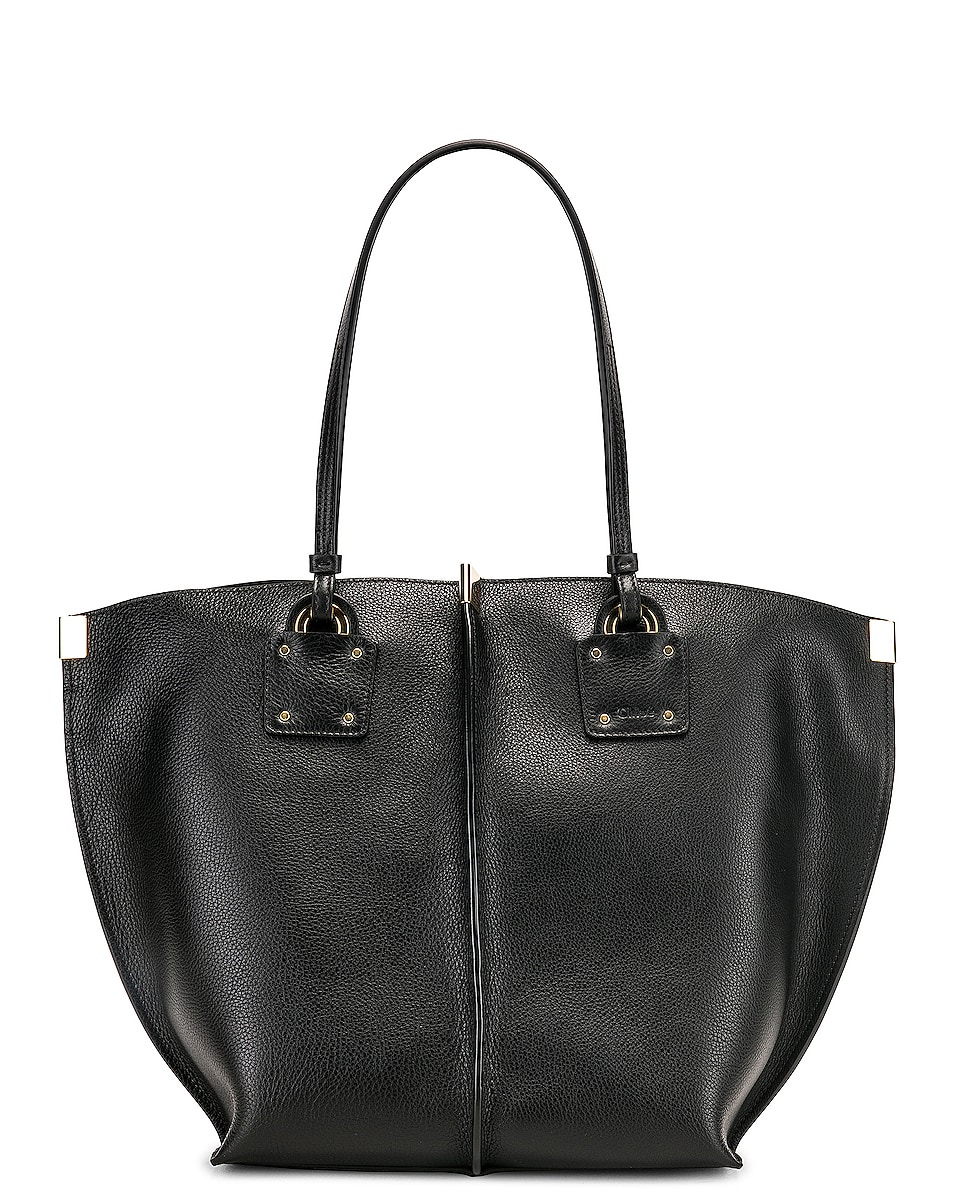 Image 1 of Chloe Medium Vick Tote in Black