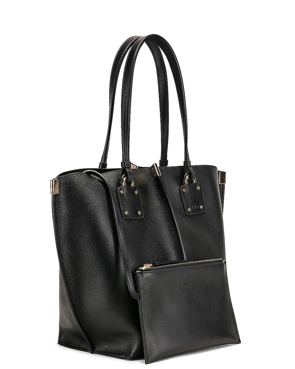 Image 4 of Chloe Medium Vick Tote in Black