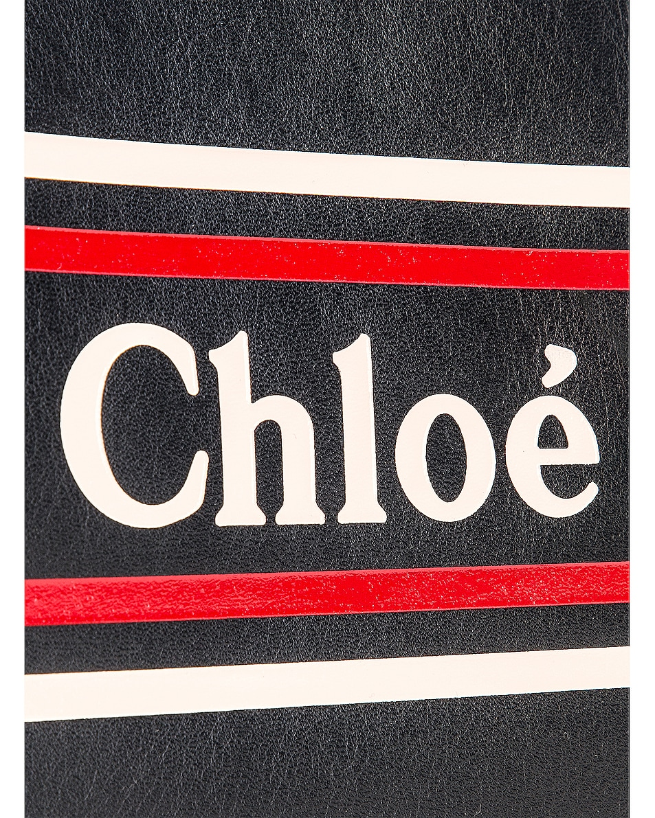 Image 7 of Chloe Logo & Stripe Pouch in Full Blue
