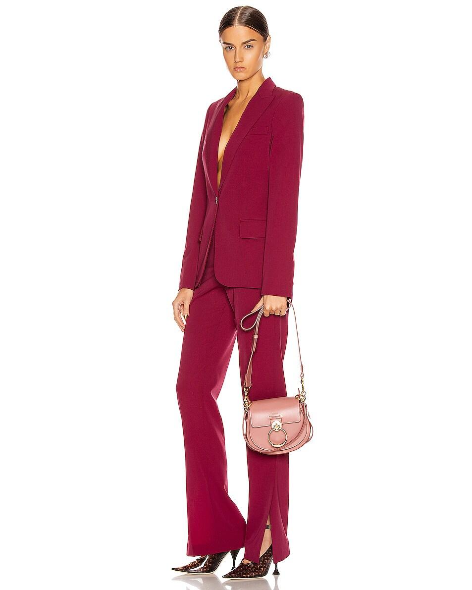 Image 2 of Chloe Small Tess Shiny Calfskin Shoulder Bag in Rusty Pink
