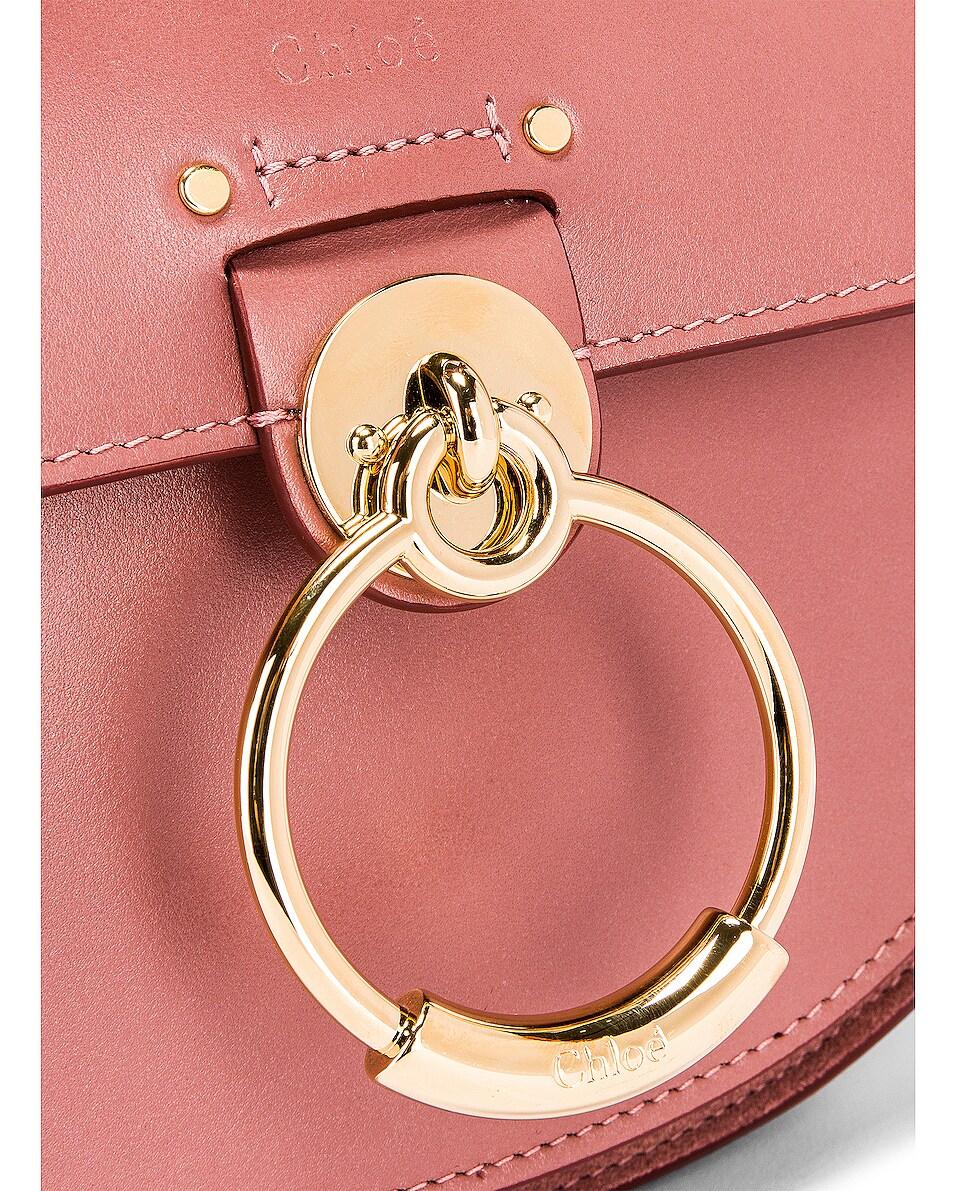 Image 4 of Chloe Small Tess Shiny Calfskin Shoulder Bag in Rusty Pink