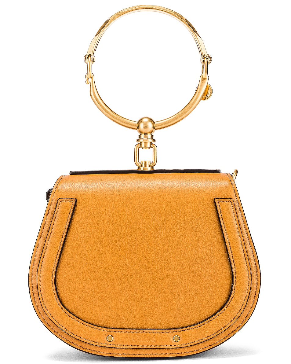 Image 1 of Chloe Small Nile Calfskin & Suede Bracelet Bag in Autumnal Brown