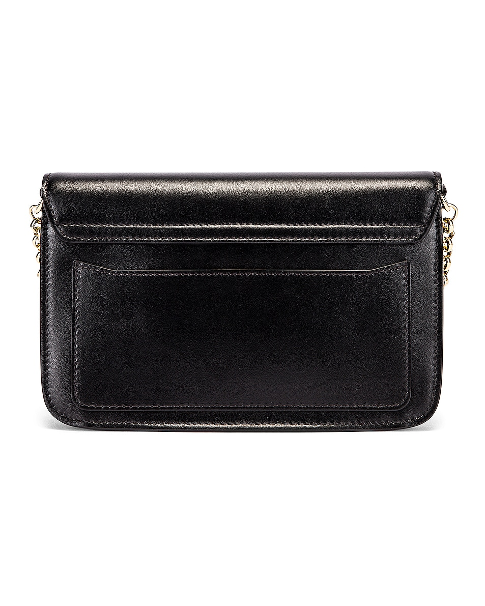 Image 3 of Chloe C Chain Clutch Bag in Black