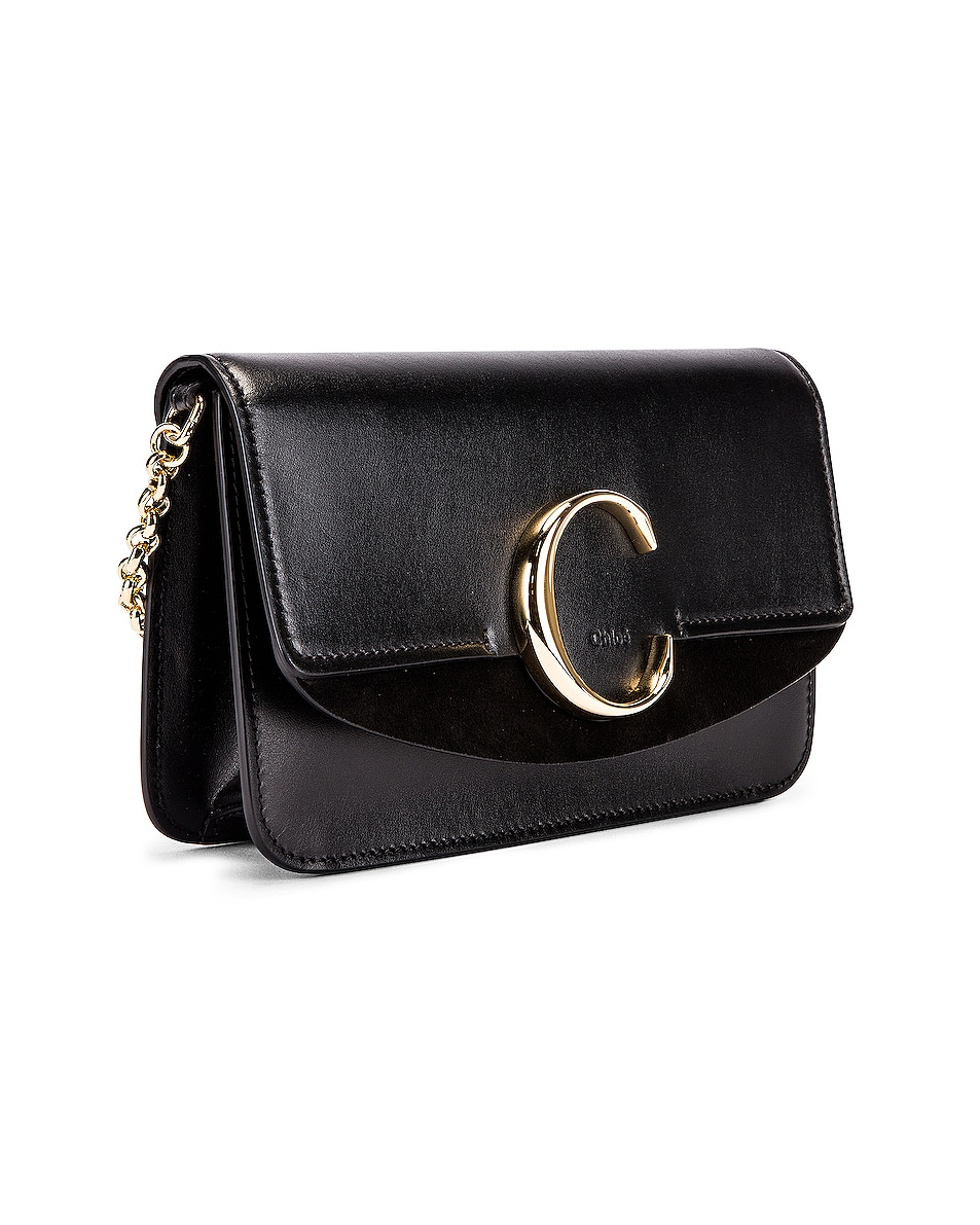 Image 4 of Chloe C Chain Clutch Bag in Black