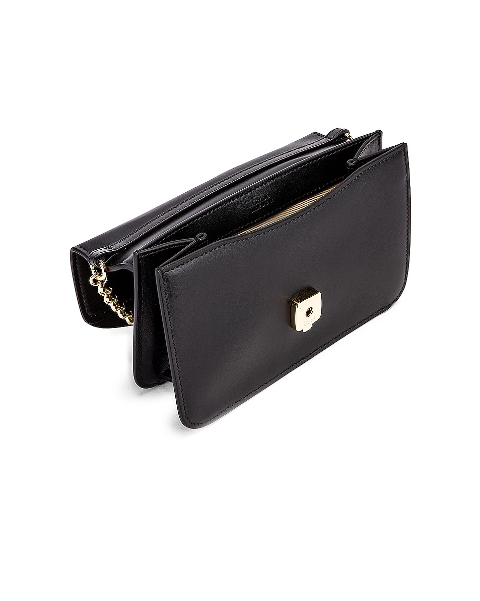 Image 5 of Chloe C Chain Clutch Bag in Black