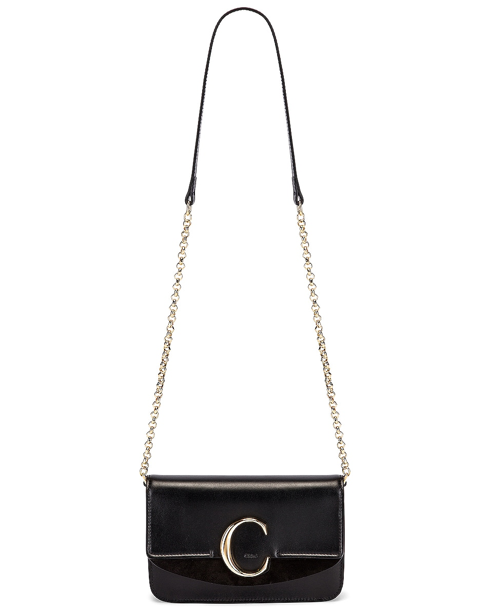 Image 6 of Chloe C Chain Clutch Bag in Black
