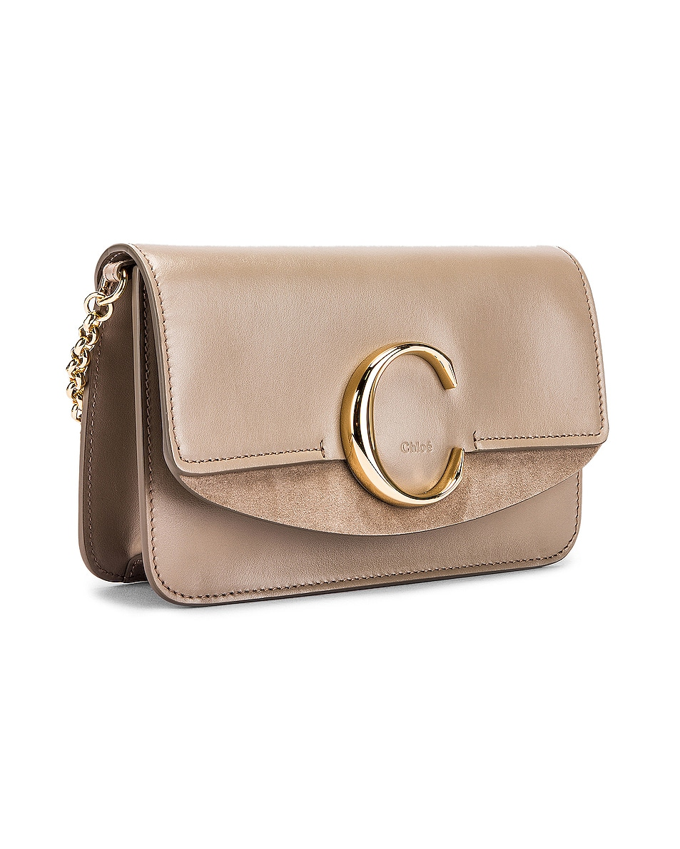 Image 4 of Chloe C Chain Clutch Bag in Motty Grey