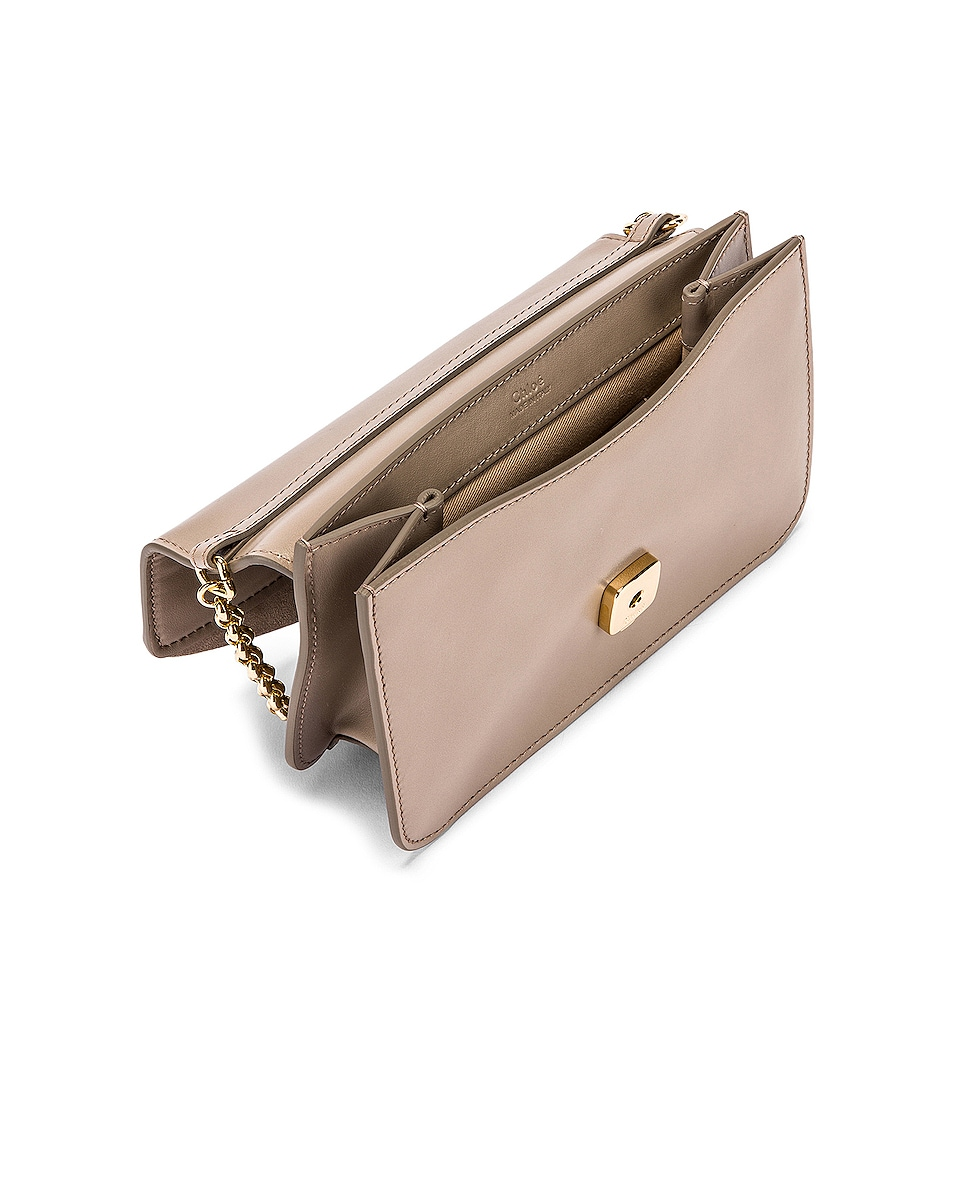 Image 5 of Chloe C Chain Clutch Bag in Motty Grey