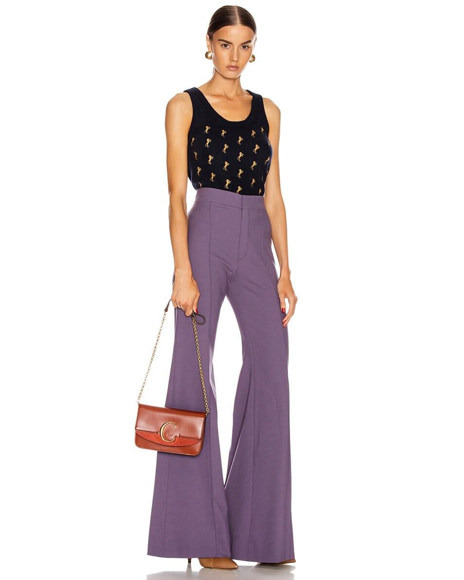 Image 2 of Chloe C Chain Clutch Bag in Sepia Brown