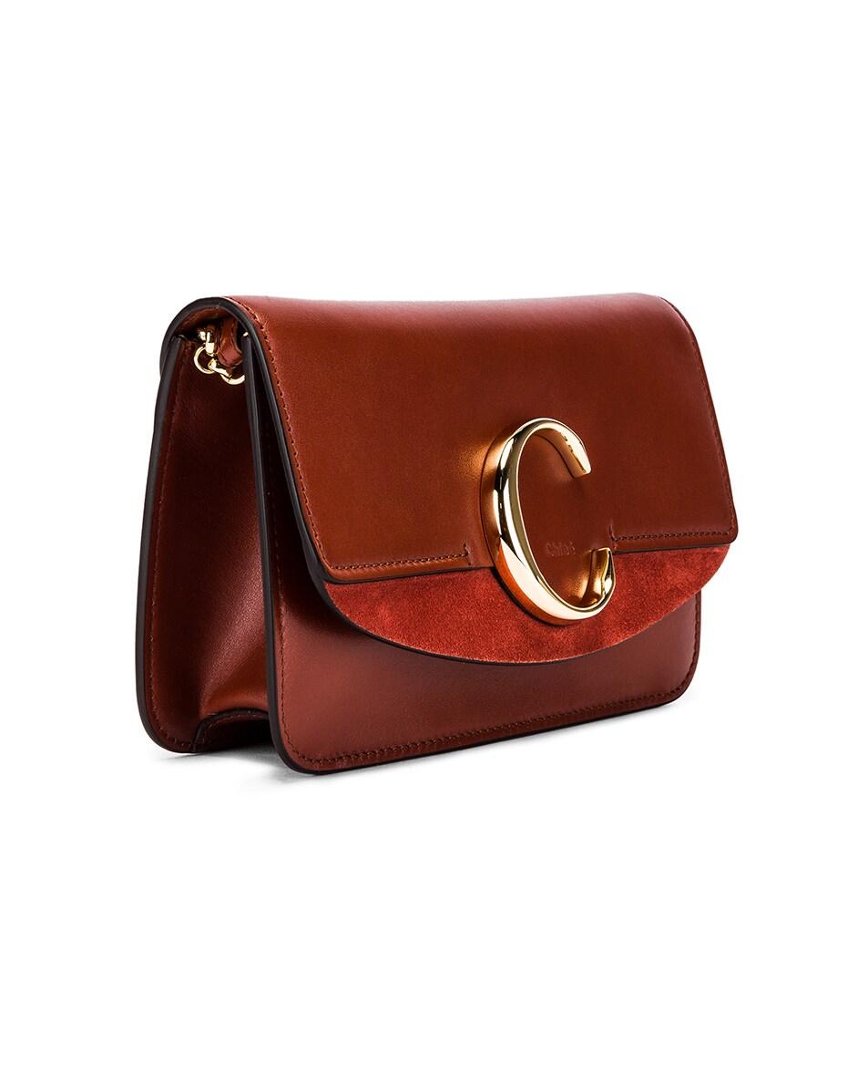 Image 4 of Chloe C Chain Clutch Bag in Sepia Brown