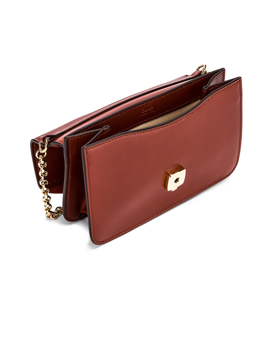 Image 5 of Chloe C Chain Clutch Bag in Sepia Brown