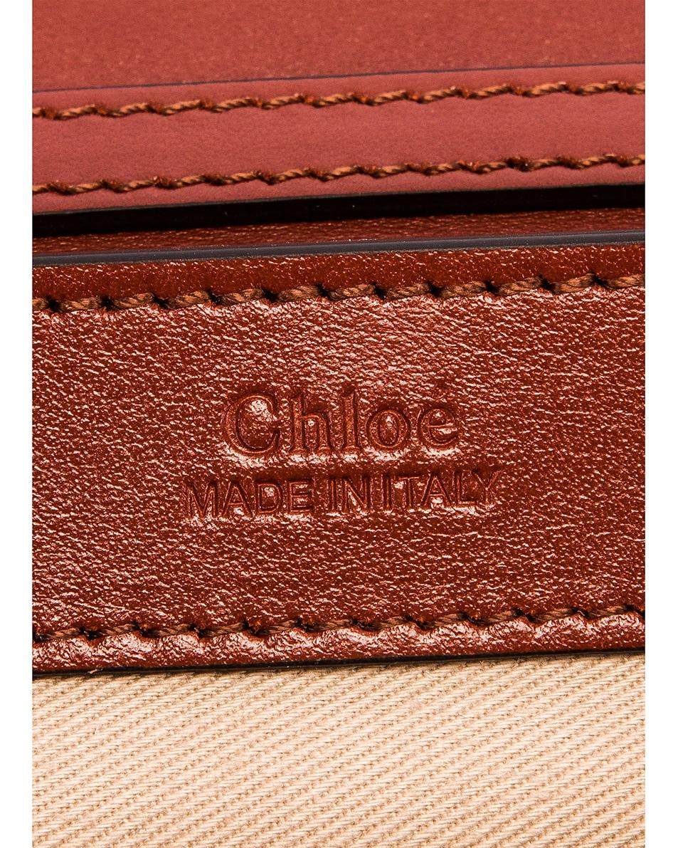 Image 7 of Chloe C Chain Clutch Bag in Sepia Brown
