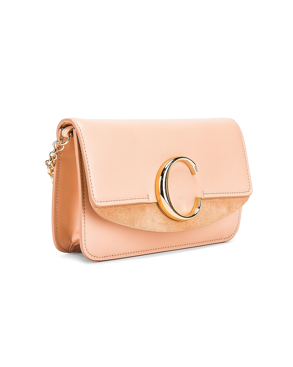 Image 4 of Chloe C Chain Clutch Bag in Delicate Pink