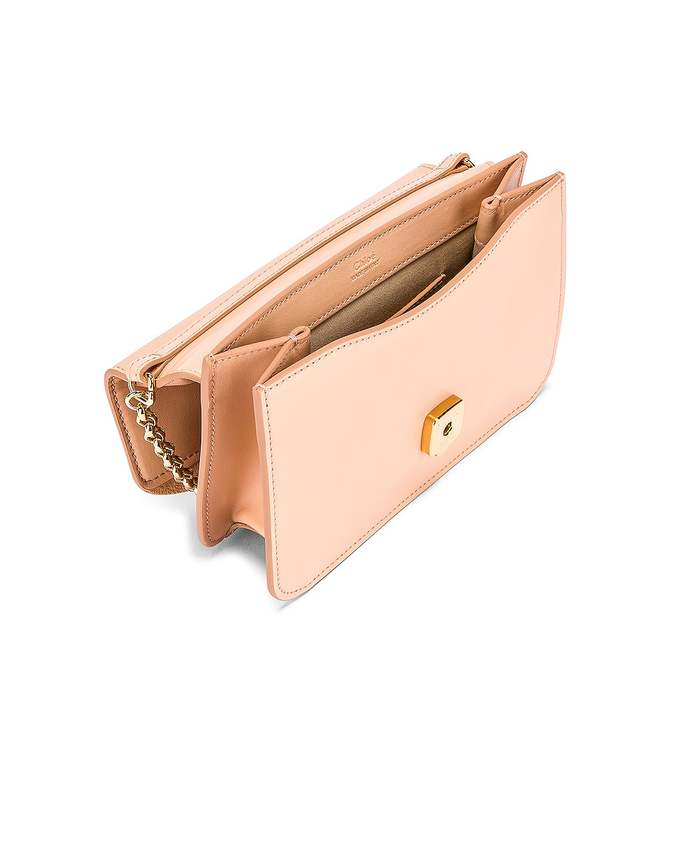 Image 5 of Chloe C Chain Clutch Bag in Delicate Pink