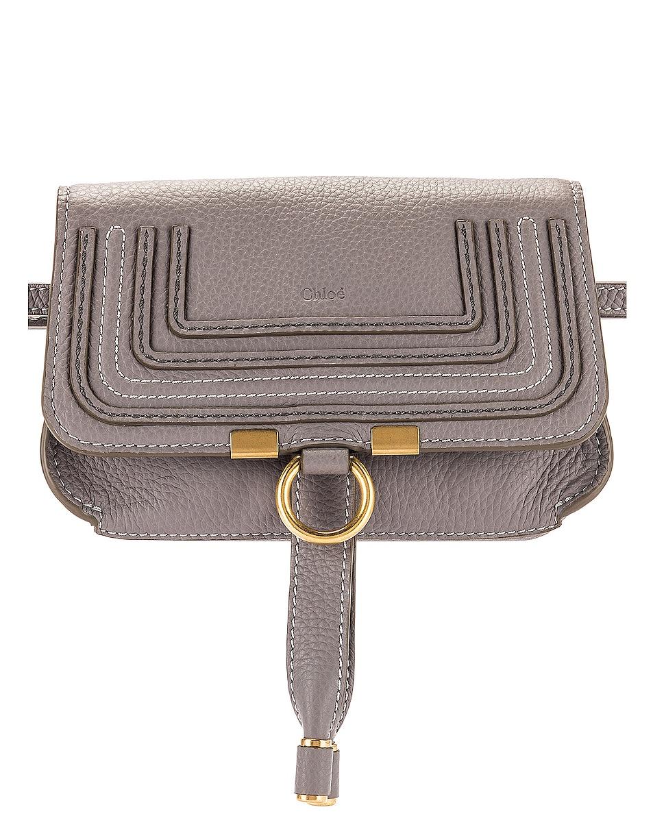 Image 1 of Chloe Marcie Belt Bag in Cashmere Grey