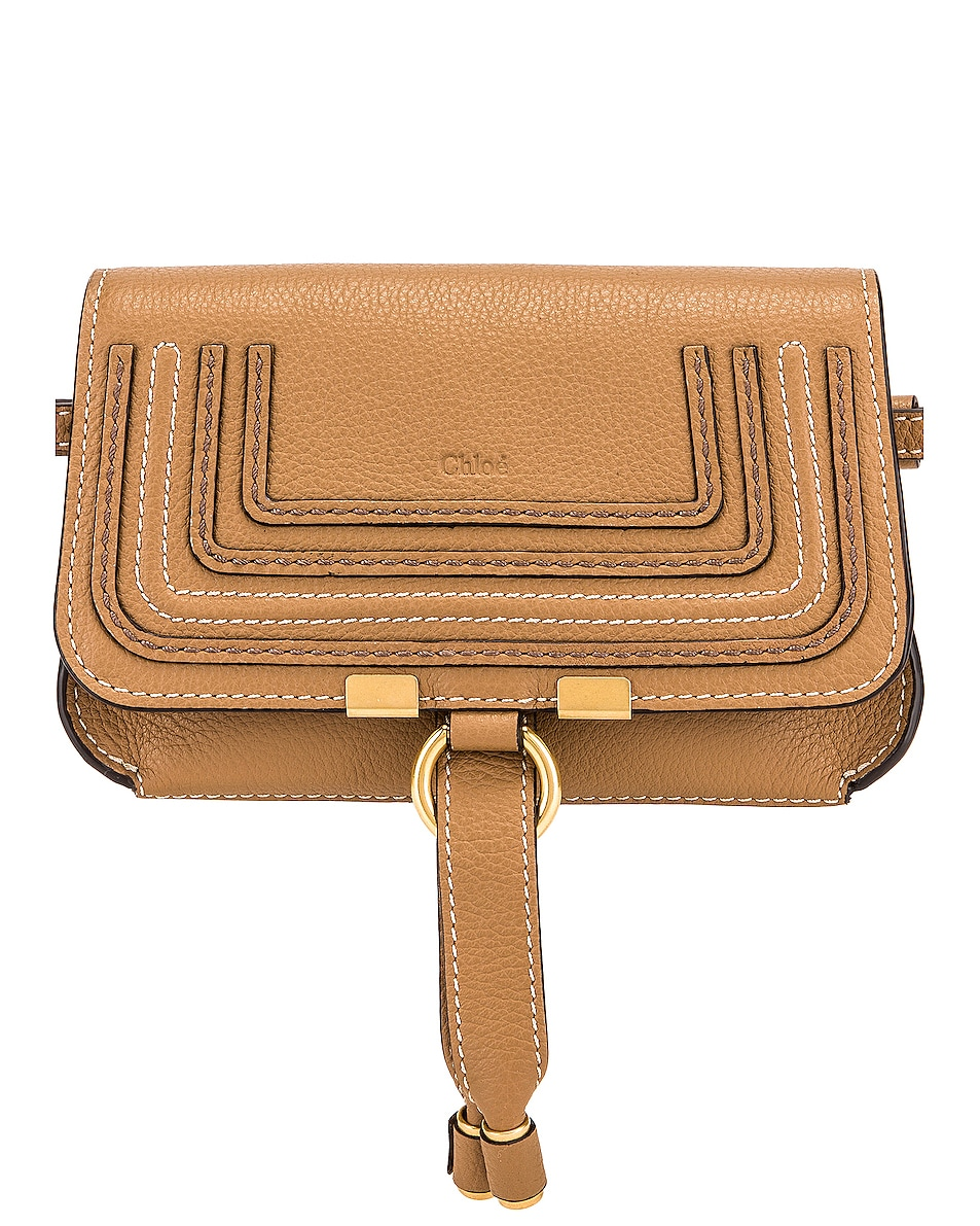 Image 1 of Chloe Marcie Belt Bag in Nut