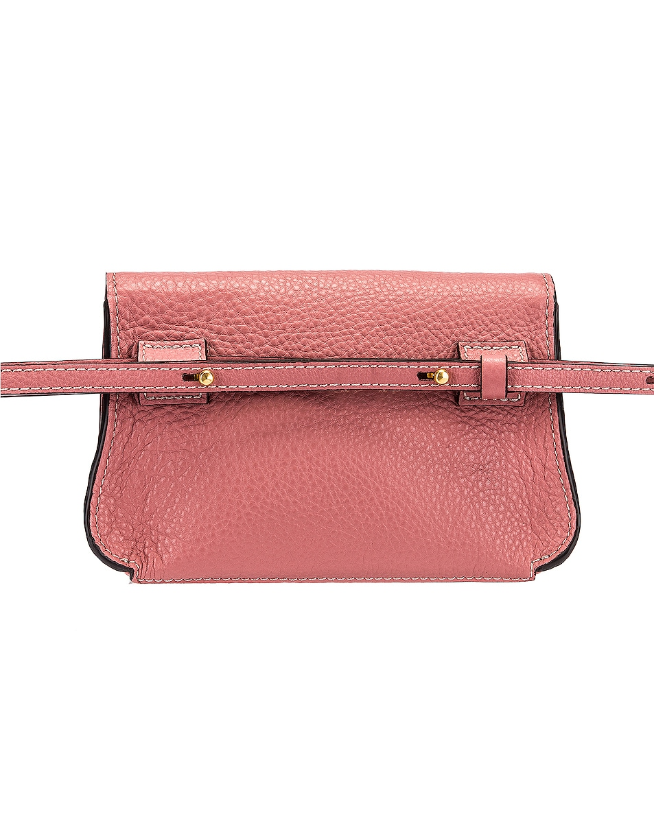 Image 3 of Chloe Marcie Belt Bag in Rusty Pink