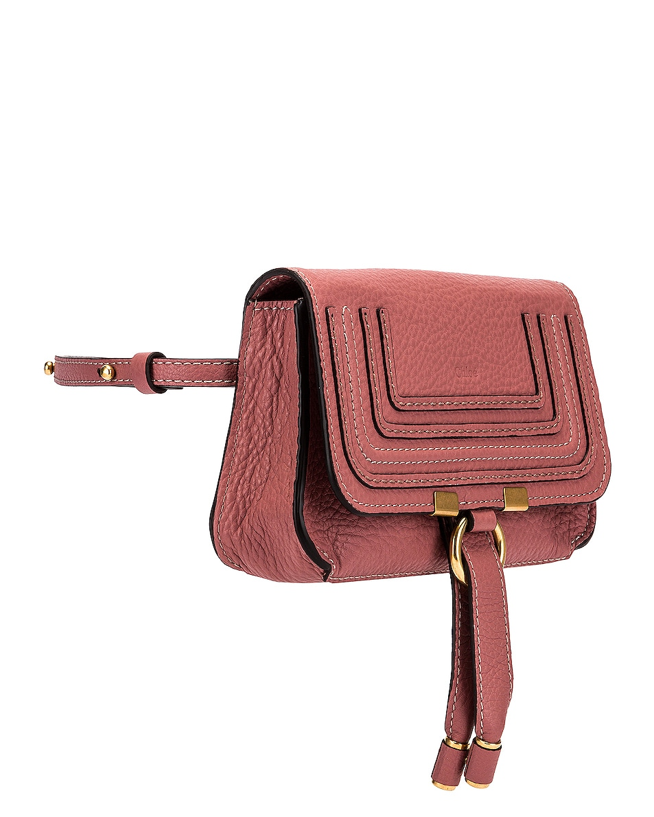 Image 4 of Chloe Marcie Belt Bag in Rusty Pink