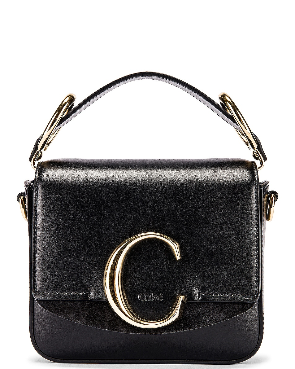 Image 1 of Chloe Mini C Box Bag in Black
