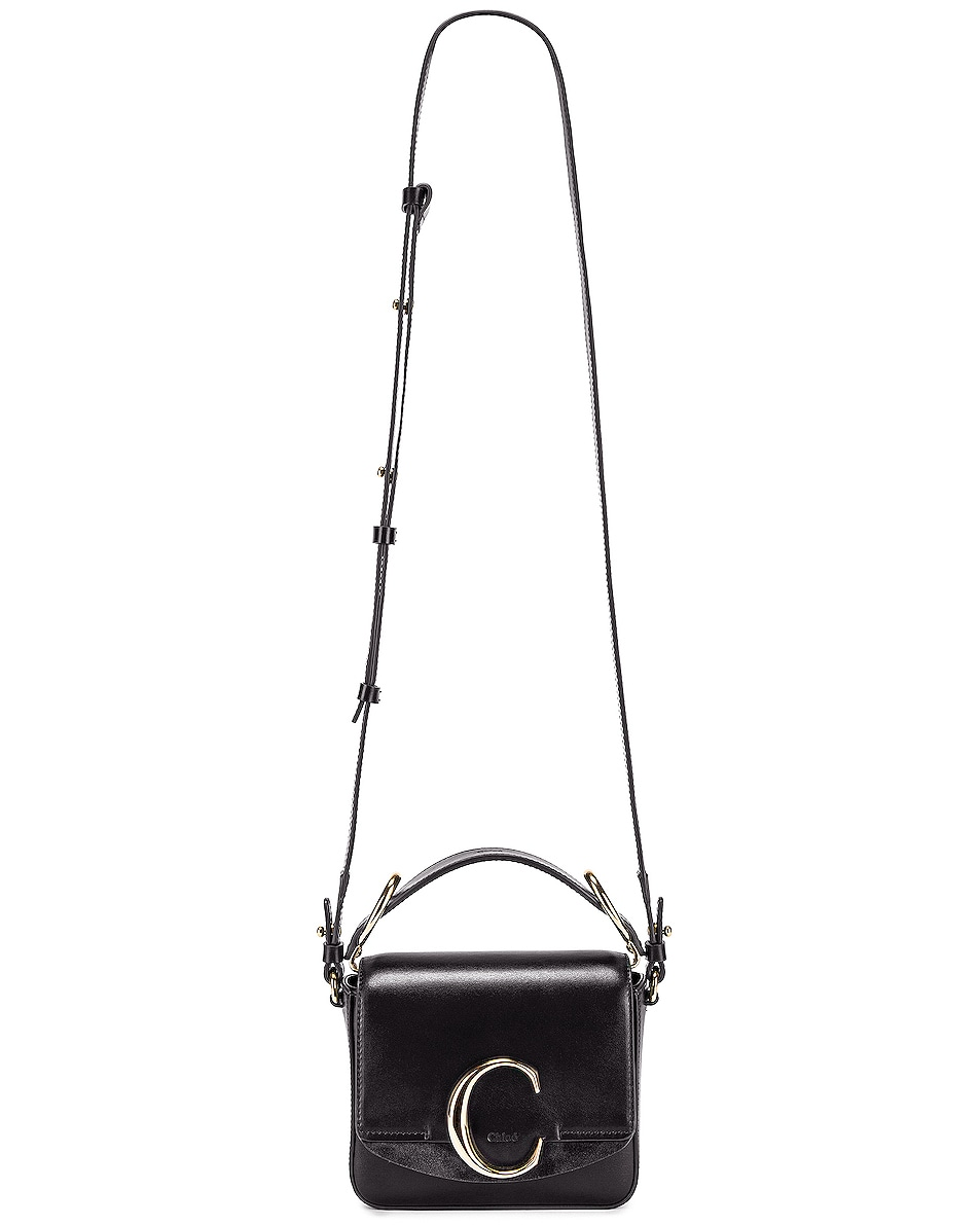 Image 2 of Chloe Mini C Box Bag in Black