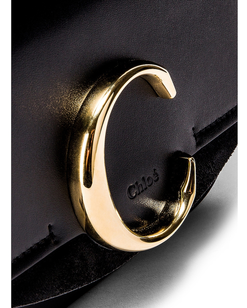 Image 3 of Chloe Mini C Box Bag in Black