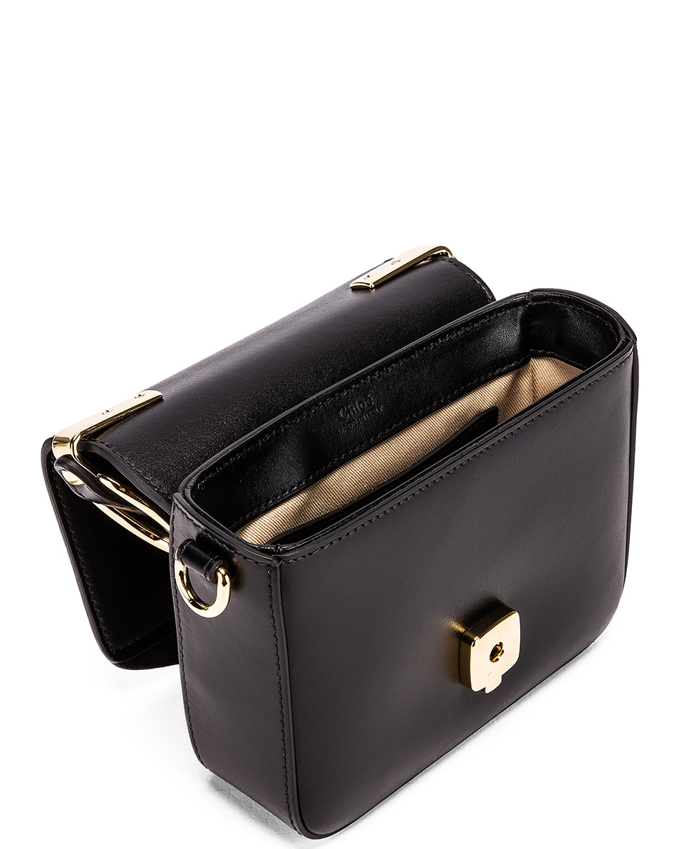 Image 5 of Chloe Mini C Box Bag in Black