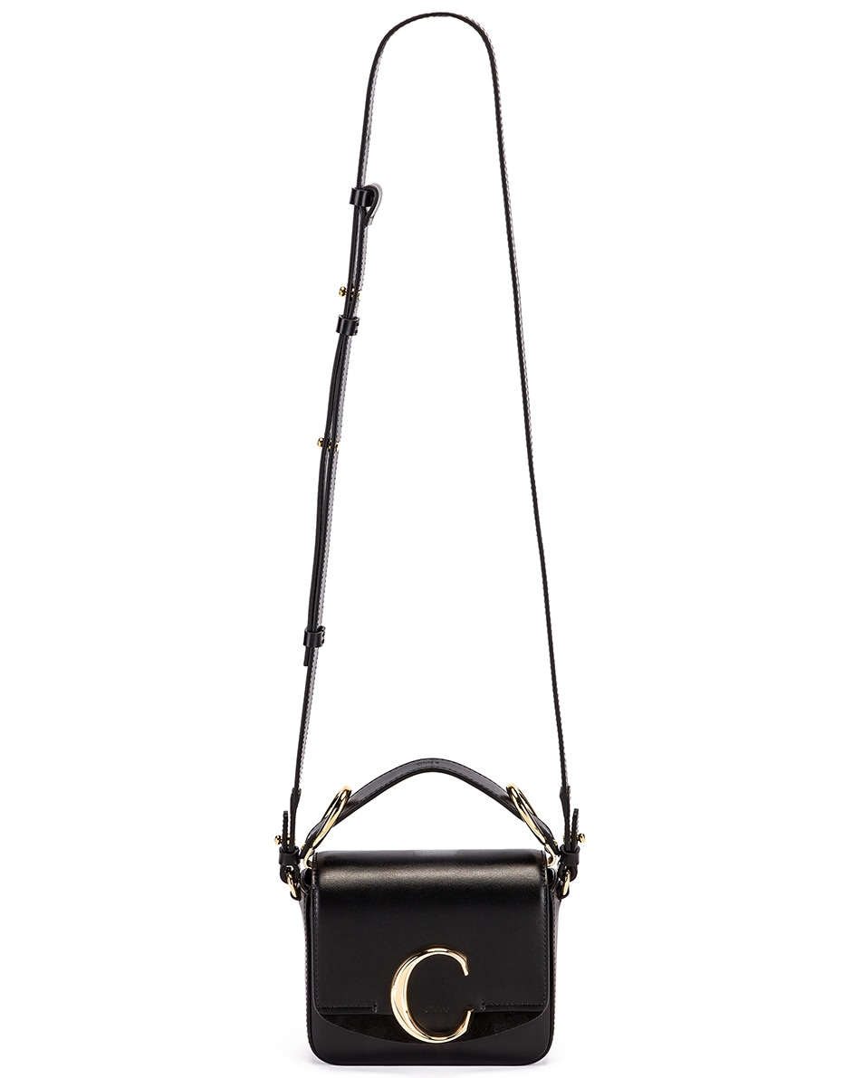 Image 6 of Chloe Mini C Box Bag in Black