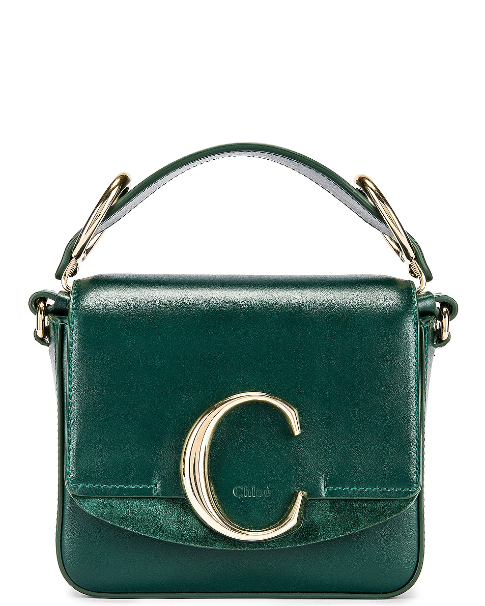 Image 1 of Chloe Mini C Box Bag in Rain Forest