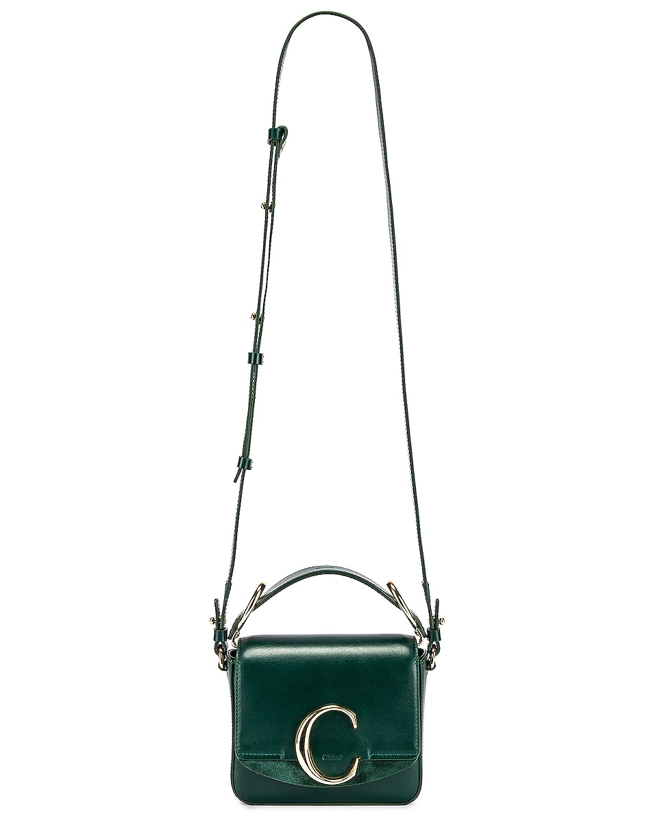 Image 2 of Chloe Mini C Box Bag in Rain Forest