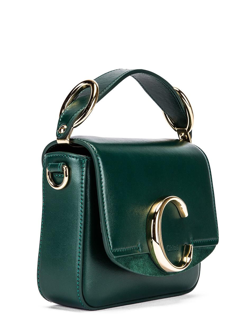Image 4 of Chloe Mini C Box Bag in Rain Forest