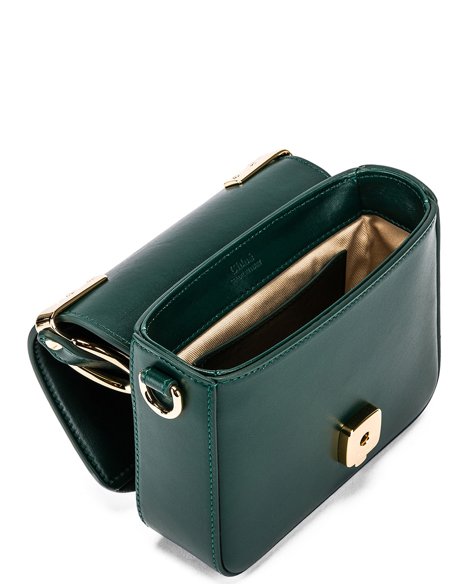 Image 5 of Chloe Mini C Box Bag in Rain Forest