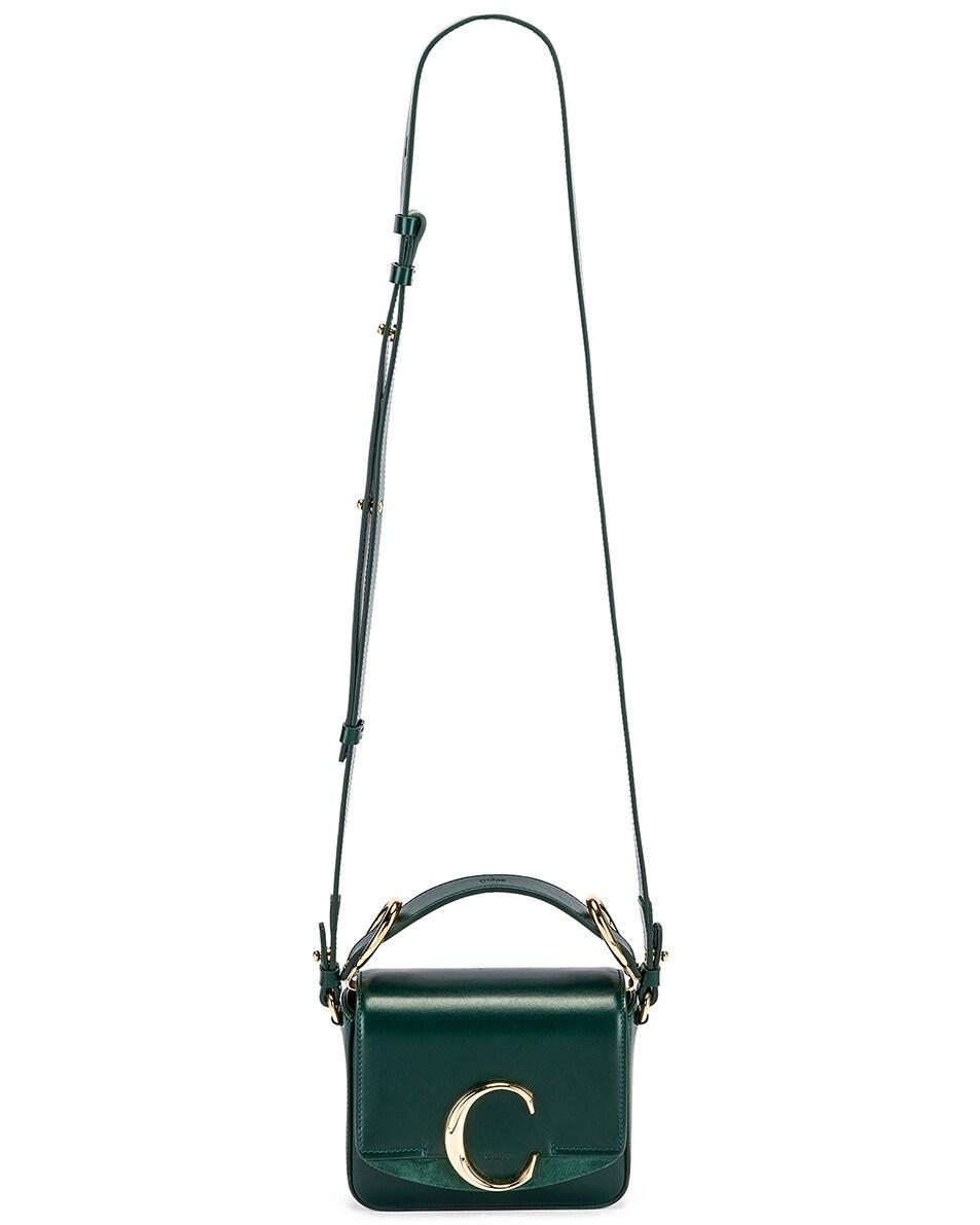 Image 6 of Chloe Mini C Box Bag in Rain Forest