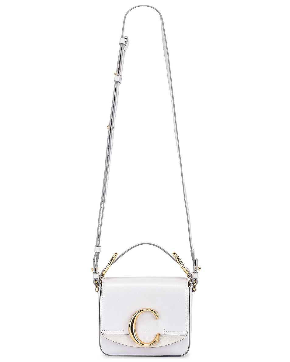 Image 2 of Chloe Mini C Box Bag in Light Cloud