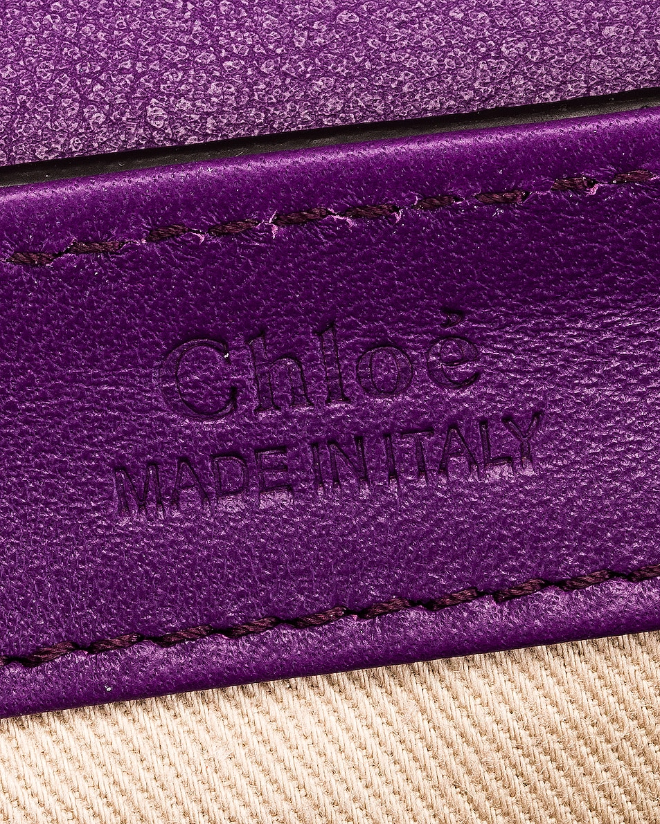 Image 7 of Chloe Mini C Embossed Croc Box Bag in Nightfall Purple