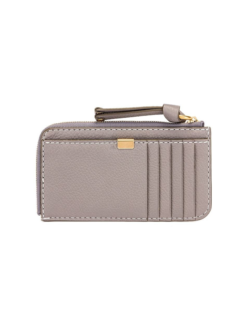 Image 2 of Chloe Medium Marcie Wallet with Slot Cards in Cashmere Grey