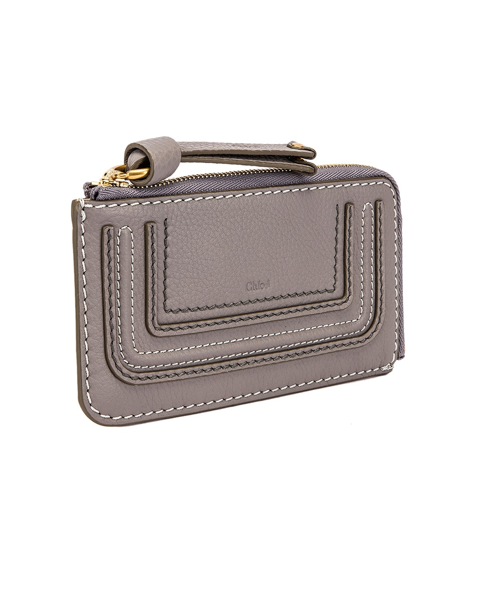 Image 3 of Chloe Medium Marcie Wallet with Slot Cards in Cashmere Grey