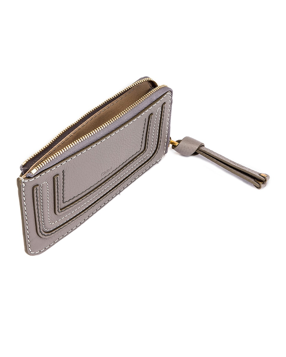 Image 4 of Chloe Medium Marcie Wallet with Slot Cards in Cashmere Grey