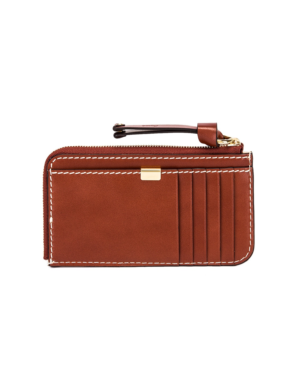 Image 2 of Chloe Medium Marcie Wallet with Card Slots in Sepia Brown