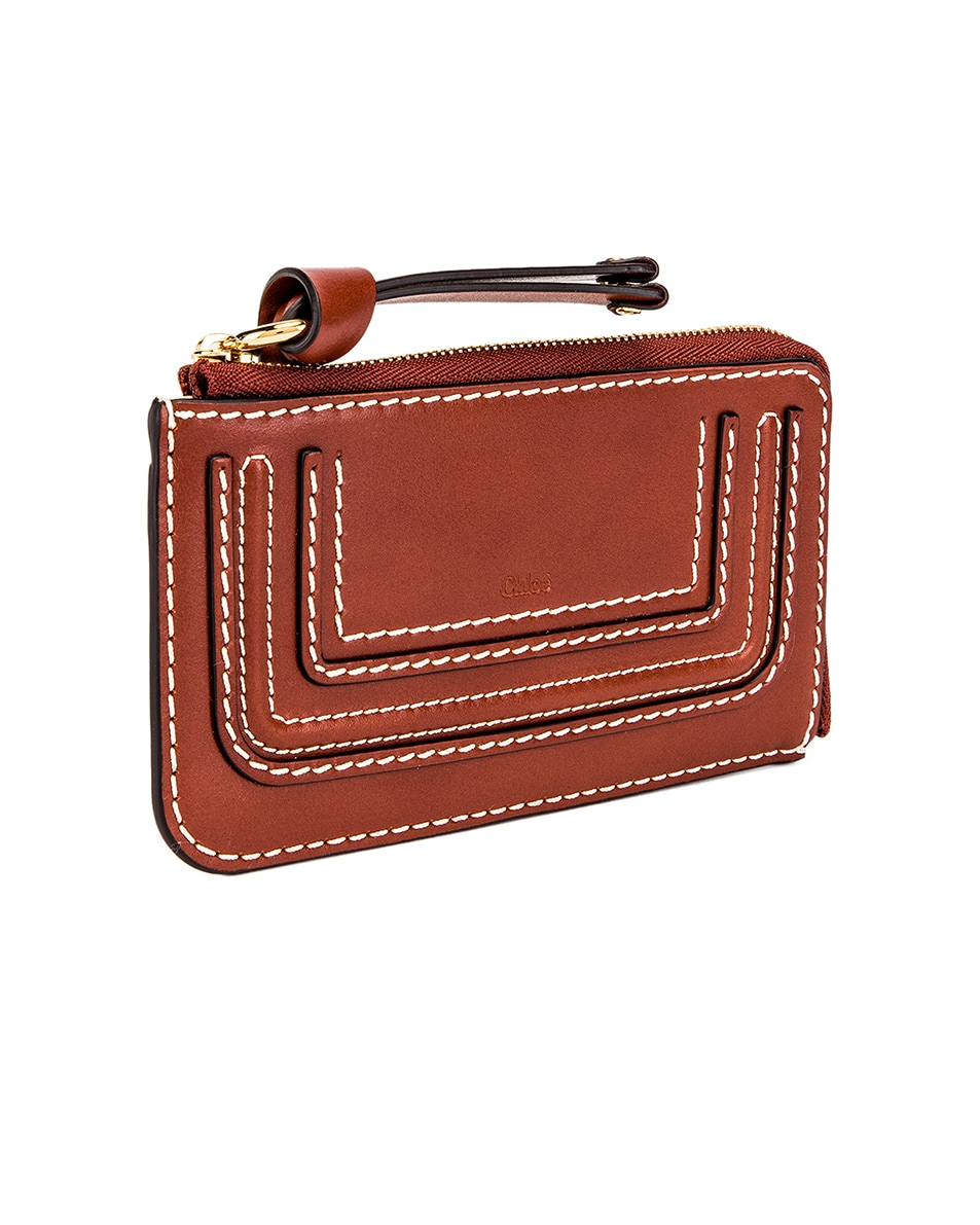 Image 3 of Chloe Medium Marcie Wallet with Card Slots in Sepia Brown
