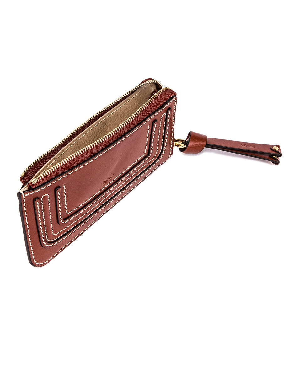 Image 4 of Chloe Medium Marcie Wallet with Card Slots in Sepia Brown