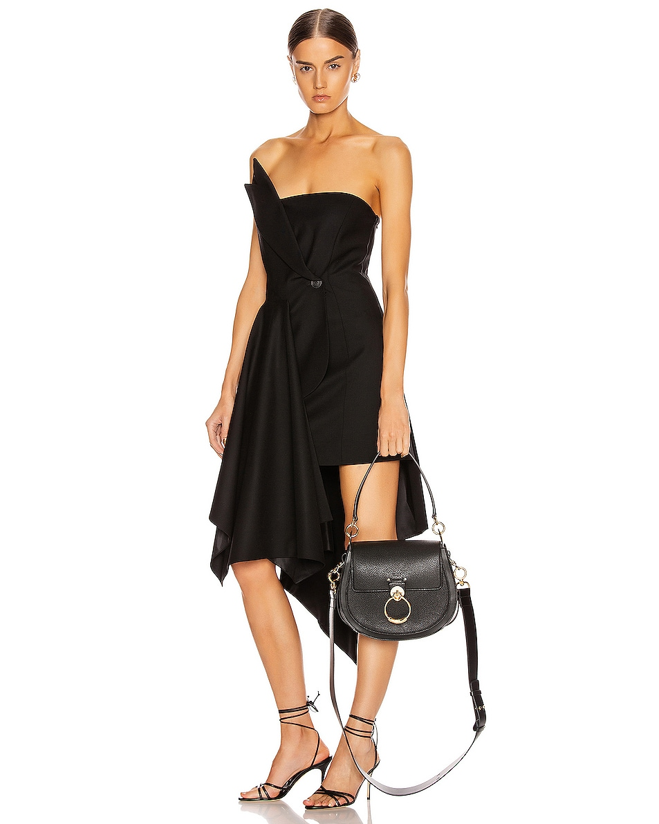 Image 2 of Chloe Large Tess Grained Leather Bag in Black