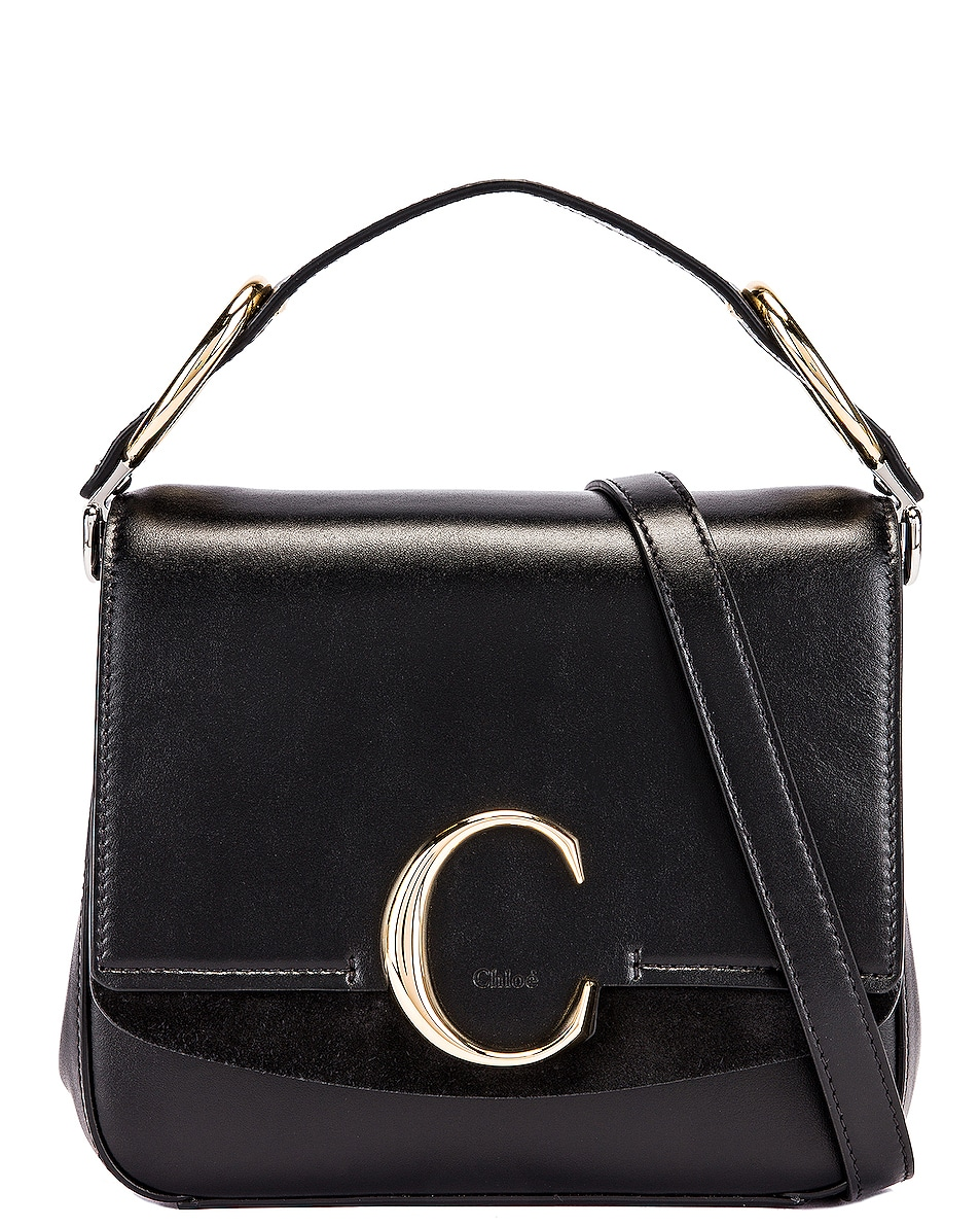 Image 1 of Chloe Small C Box Bag in Black