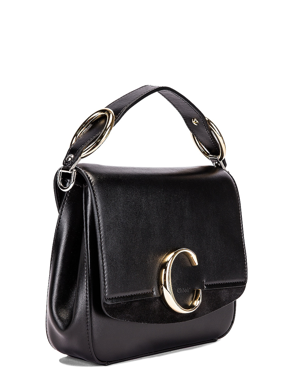 Image 4 of Chloe Small C Box Bag in Black