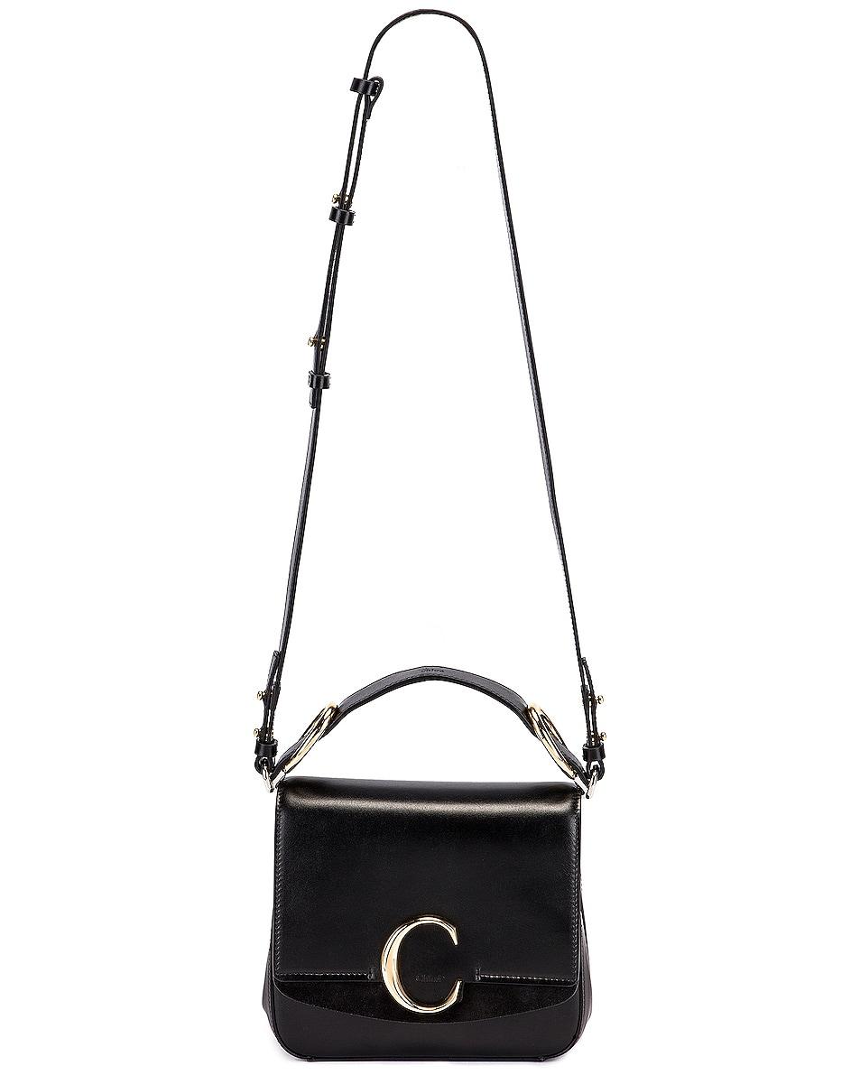 Image 6 of Chloe Small C Box Bag in Black