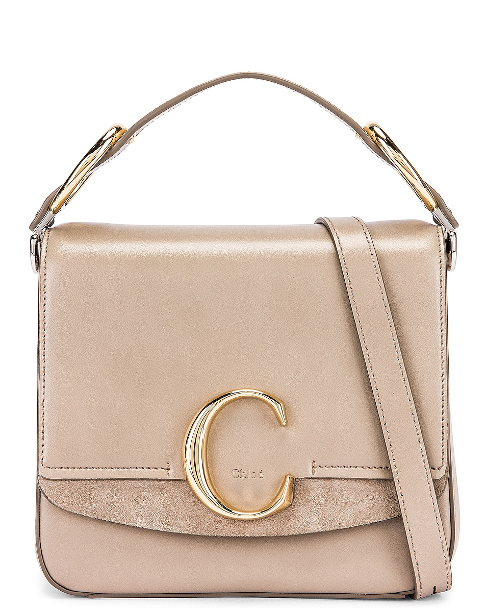 Image 1 of Chloe Small C Box Bag in Motty Grey